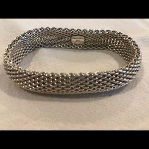 Authentic Somerset Tiffany mesh bracelet .925